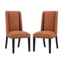 Baron Dining Chair Fabric Set of 2, Fabric, Orange 15673