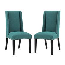 Baron Dining Chair Fabric Set of 2, Fabric, Aqua Blue 15674