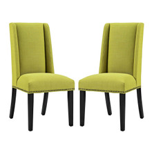 Baron Dining Chair Fabric Set of 2, Fabric, Green 15675