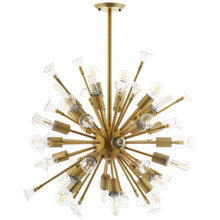 Burst Ceiling Light Pendant Chandelier, Metal Steel, Gold 15676