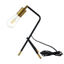 Achievement Table Lamp, Metal Steel, Black Gold 15683