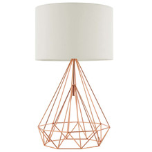 Precious Rose Gold Table Lamp, Metal Steel, Gold Rose 15685