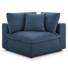 Commix Down Filled Overstuffed Corner Chair, Fabric, Navy Blue 15711