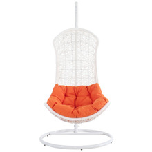 Endow Swing Lounge Chair in White Orange