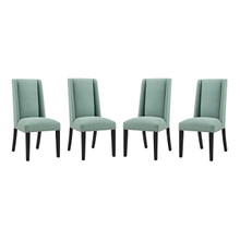 Baron Dining Chair Fabric Set of 4, Fabric, Blue 15844