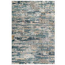 Tribute Eisley Rustic Distressed Transitional Diamond Lattice 8x10 Area Rug, Fabric, Multi Colorful 15950