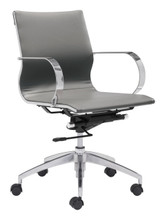 Glider Low Back Office Chair Gray, 16162