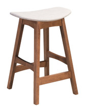 Allen Counter Stool Dove Gray & Walnut, 16184