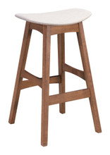 Allen Barstool Dove Gray & Walnut, 16185
