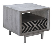 Raven End Table Old Gray, 16195