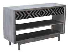 Raven Console Table Old Gray, 16196