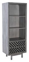 Raven Narrow Tall Shelf Old Gray, 16200