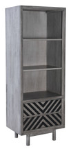 Raven Narrow Tall Shelf Old Gray, 16200