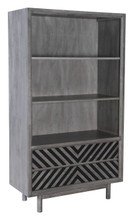 Raven Wide Tall Shelf Old Gray, 16201