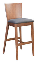 Ambrose Bar Chair Walnut & Dark Gray, 16211