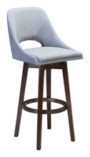 Ashmore Bar Chair Charcoal Gray, 16231