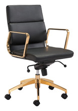 Scientist Low Back Office Chair Blk & Gd, 16237