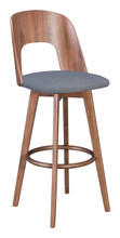 Anton Barstool Walnut & Dark Gray, 16239