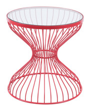 Rose Side Table Red, 16254