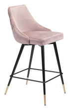 Piccolo Counter Chair Pink Velvet , 16288