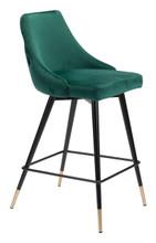 Piccolo Counter Chair Green Velvet , 16290