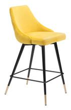 Piccolo Counter Chair Yellow Velvet , 16291