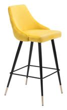 Piccolo Bar Chair Yellow Velvet, 16295