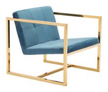 Alt Arm Chair Blue Velvet, 16303