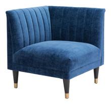 Raven Corner Chair  Blue Velvet, 16319