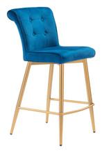 Niles Counter Chair Blue Velvet, 16322