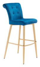 Niles Bar Chair Blue Velvet , 16324