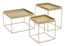 Gaia Nesting Table Gold, 16339
