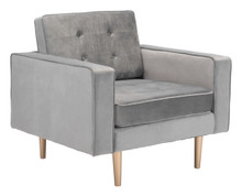 Puget Arm Chair Gray Velvelt, 16341