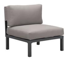 Santorini Armless  Chair Drk Gry & Gray, 16444