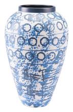 Ree Lg Vase Blue & White, 16471