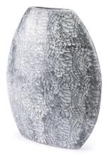 Marbled Lg Vase Black & White, 16494