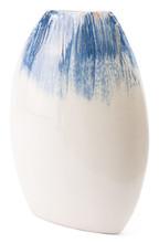 Ombre Round Vase Blue & White, 16495