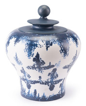 Mar Md Temple Jar Blue & White, 16513
