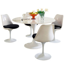 Lippa 5 Piece Dining Set in Black