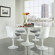Lippa 5 Piece Dining Set in Gray