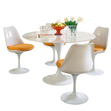 Lippa 5 Piece Dining Set in Orange