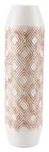 Toba Bottle Lg White & Brown, 16581