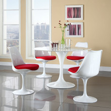 Lippa 5 Piece Dining Set in Red