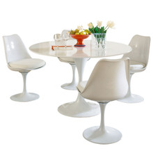 Lippa 5 Piece Dining Set in White