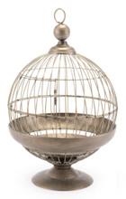 Round Birdcage Candle Holder Gray, 16597