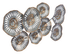 Zinc Flowers Wall Decor Multicolor, 16609