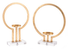Oly Set Of 2 Candle Holders Gold, 16625