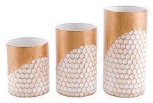 Honeycomb Set Of 3 Candle Holders Gold, 16627