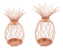 Set Of 2 Pineapple Copper, 16628