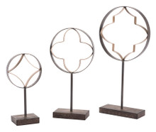 Set Of 3 Quatrefoil With Pedestal Antiqu, 16641
